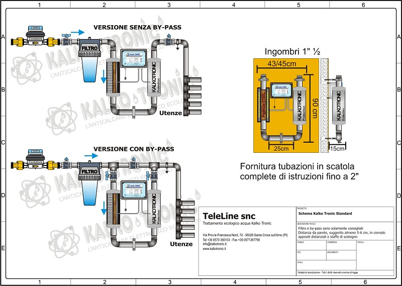 Schema Collegamento Filtro Lte : Schemi di installazione kalkotronic