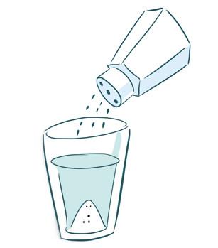 L'addolcitore aggiunge sale nell'acqua!