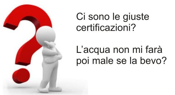 Certificazioni Kalko Tronic  - Potabilità garantita