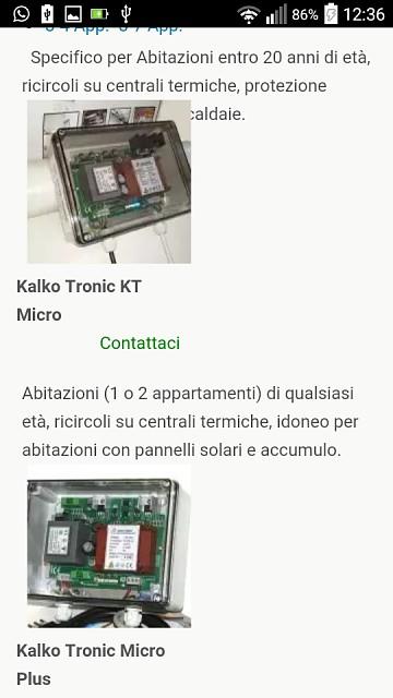 Mobile - lista prodotti