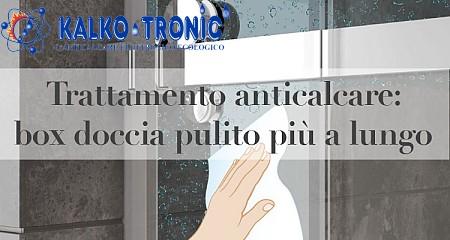 Trattamento anticalcare per box doccia